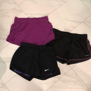 🌸🍇bundle of 3 pairs of running shorts 🌸🍇